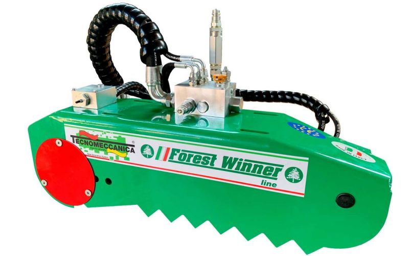Kit cassette saw with piston hydraulic motor and automatic return system